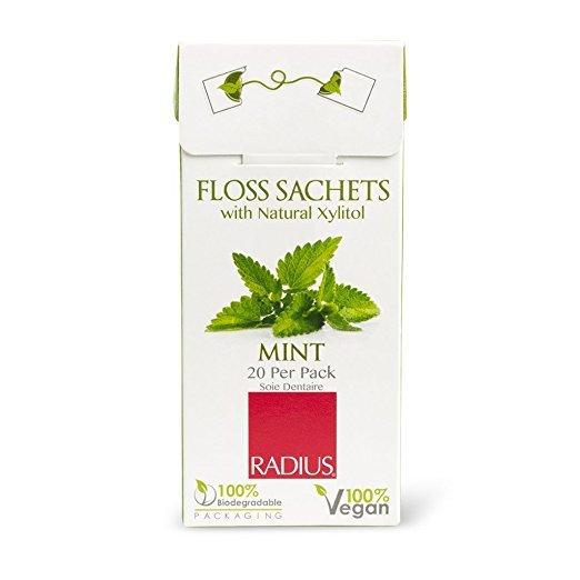 Vegan Xylitol Nane Özlü Yumuşak Diş İpi, Radius (20 Adet)