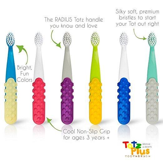 Totz Plus Diş Fırçası, Yumuşak, Radius (3 yaş-6 yaş)