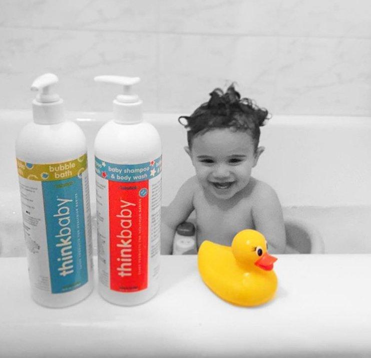 Doğal Bebek Banyo Köpüğü, 237 ml, Thinkbaby