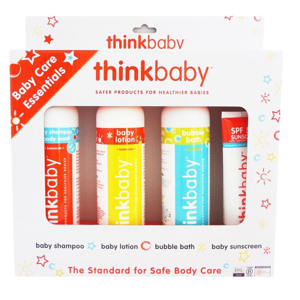 Doğal Bebek Bakım 4'lü Set, Thinkbaby
